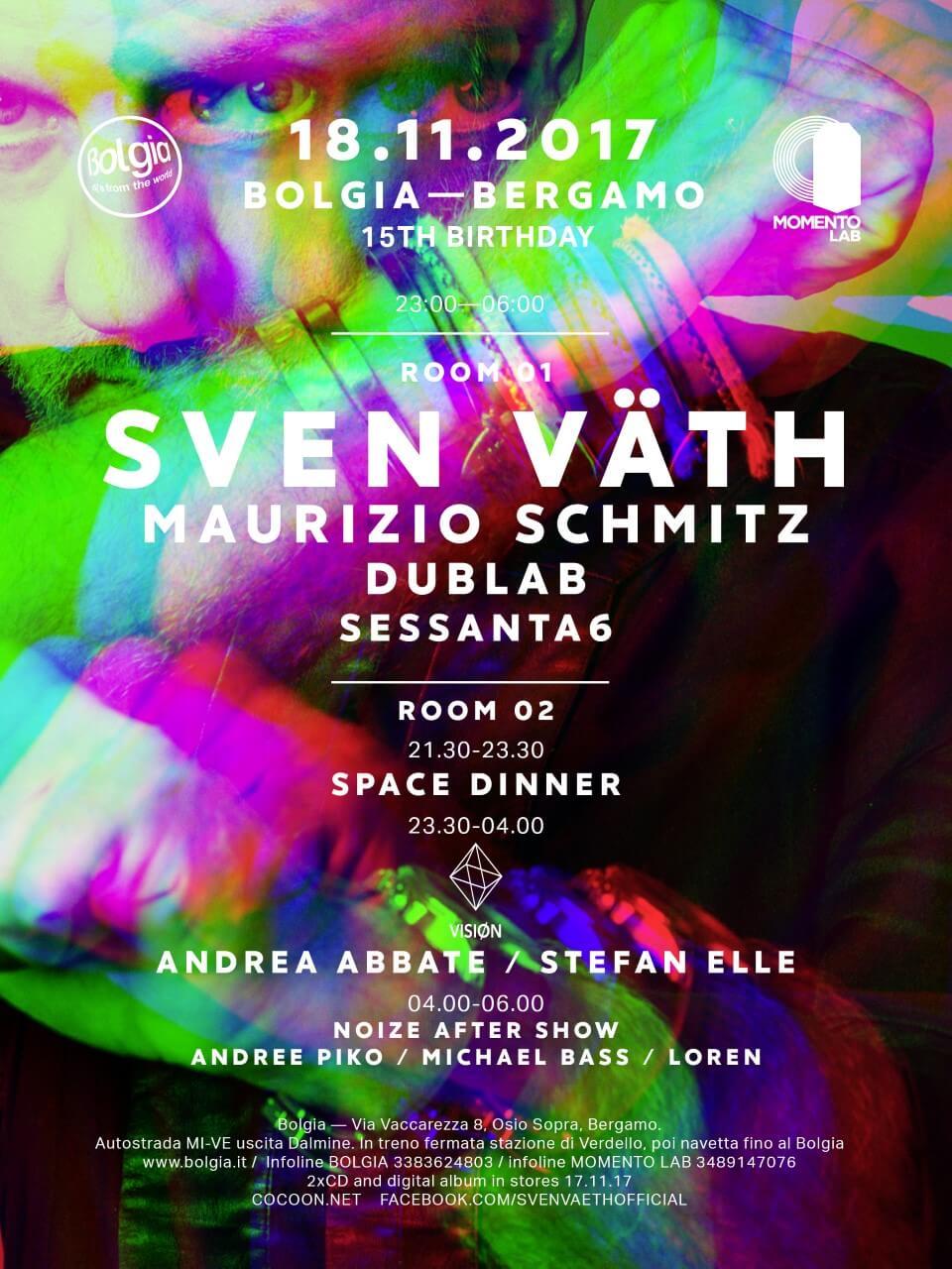 Sven Väth bolgia event
