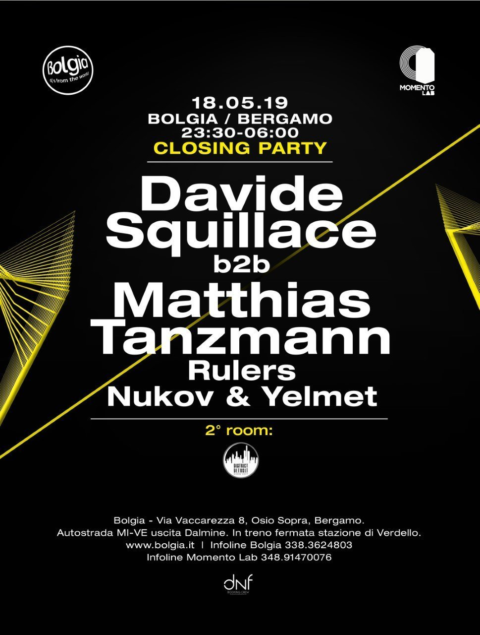 Davide Squillace b2b Matthias Tanzmann @ Bolgia BG